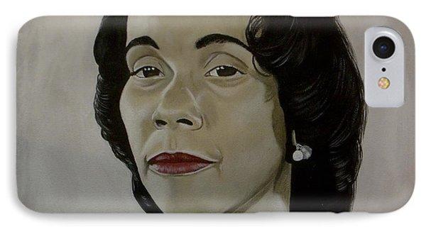Mrs. Coretta Scott King IPhone Case by Chelle Brantley