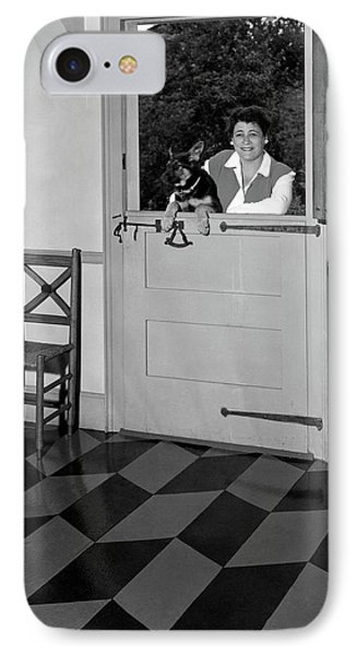 Mrs. Henry Tomlinson Curtiss And Her Dog IPhone Case by George Platt Lynes