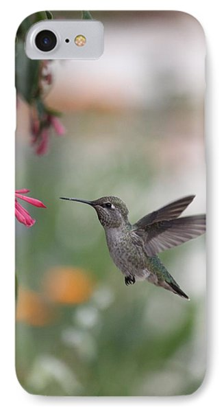 IPhone Case featuring the photograph Mrs. Little Anna's Hummingbird by Amy Gallagher