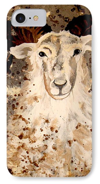 IPhone Case featuring the painting Powell Mountain Goat by Amy Sorrell