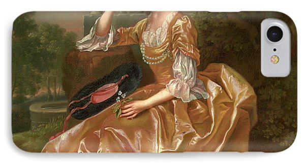 Mrs. Mary Chauncey A Young Woman Signed And Dated In Yellow IPhone Case by Litz Collection
