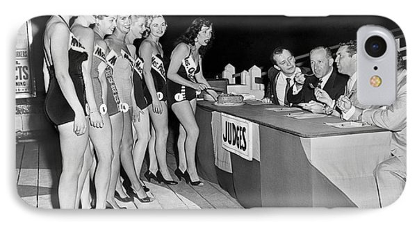 Mrs. New Jersey Contestants IPhone Case by Underwood Archives