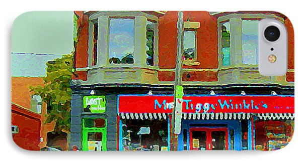 Mrs Tiggy Winkle's Toy Shop And Lost Marbles Richmond Rd The Glebe Paintings Ottawa Scenes C Spandau IPhone Case by Carole Spandau