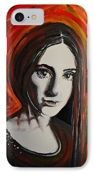 IPhone Case featuring the painting Portrait In Black #x by Sandro Ramani