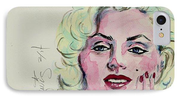 Ms Monroe Phone Case by P J Lewis