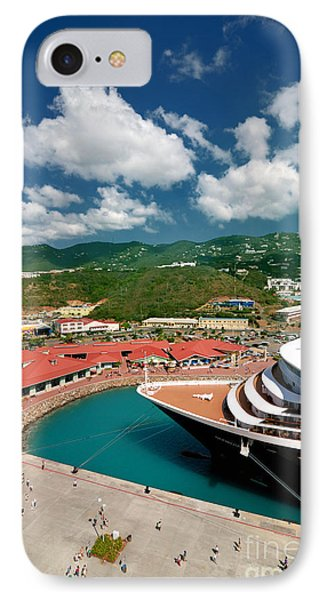 Ms Noordam St Thomas Virgin Islands Phone Case by Amy Cicconi