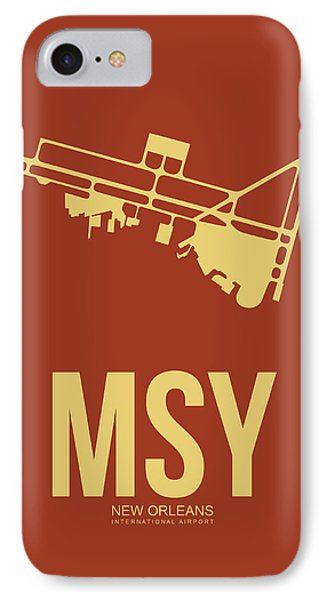 Msy New Orleans Airport Poster 1 IPhone Case by Naxart Studio
