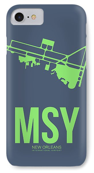 Msy New Orleans Airport Poster 2 IPhone Case