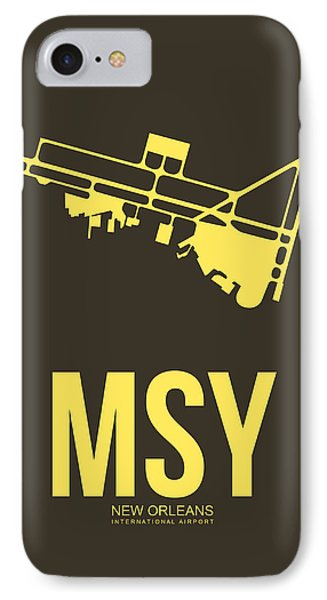 Msy New Orleans Airport Poster 3 IPhone Case by Naxart Studio