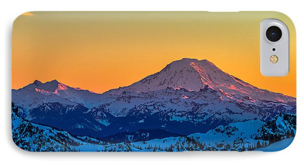 Mt Adams Sunset Review-2 IPhone Case