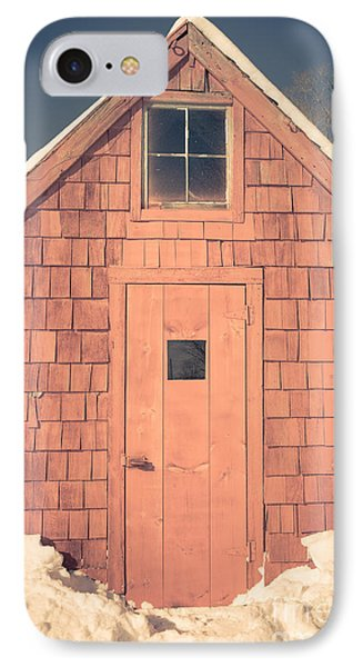 Mt. Cube Sugar Shack Orford New Hampshire IPhone Case by Edward Fielding
