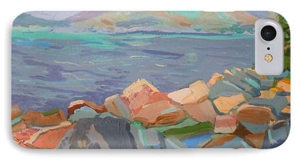 IPhone Case featuring the painting Mt. Desert From Schoodic Point by Francine Frank