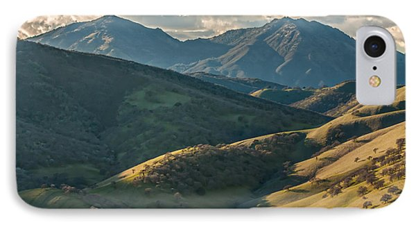 Mt Diablo And Afternoon Shadows IPhone Case by Marc Crumpler