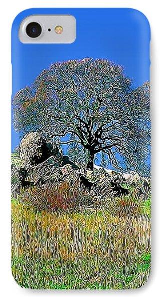 Mt. Diablo Oak Tree IPhone Case by Wernher Krutein