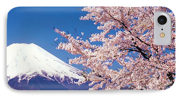 Mt Fuji Cherry Blossoms Yamanashi Japan IPhone Case by Panoramic Images