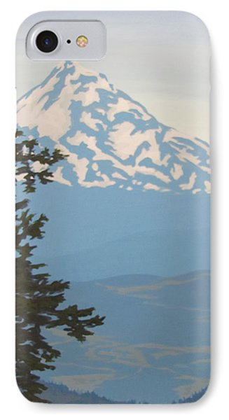 IPhone Case featuring the painting Mt Hood by Karen Ilari
