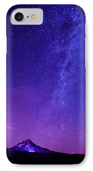 Mt. Hood Milky Way 01 IPhone Case by Lori Grimmett