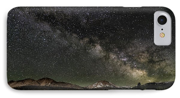 Mt Lassen And Milky Way IPhone Case by Keith Marsh