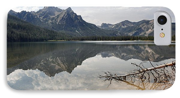 Mt. Mcgowan Reflected In Stanley Lake IPhone Case