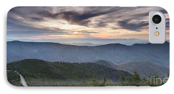 Mt Mitchell Sunset Blue Ridge Parkway IPhone Case by Dustin K Ryan