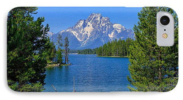 Mt Moran At Half Moon Bay IPhone Case by Greg Norrell