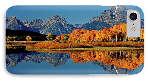 Mt. Moran Reflection IPhone Case by Ed  Riche