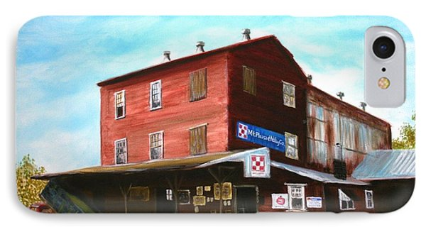 IPhone Case featuring the painting Mt. Pleasant Milling Company by Stacy C Bottoms