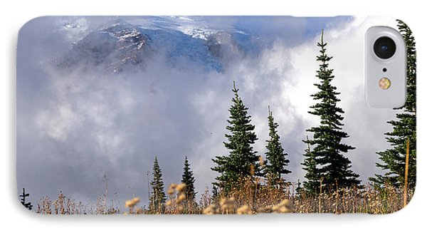 Mt Rainier Cloud Meadow IPhone Case by Scott Nelson