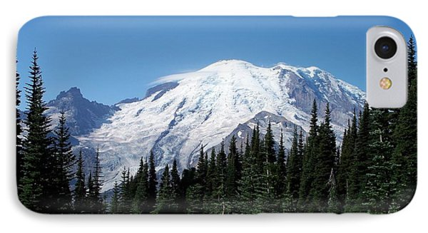 IPhone Case featuring the photograph Mt. Rainier In August by Chalet Roome-Rigdon