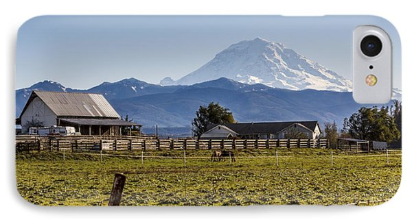 Mt Rainier Ranch IPhone Case