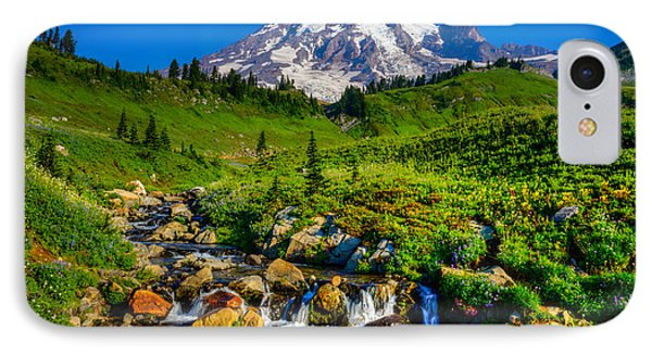 Mt. Rainier Stream IPhone Case by Chris McKenna