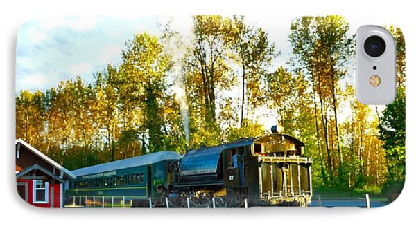IPhone Case featuring the photograph Mt Rainier W A Scenic Railroad by Sadie Reneau
