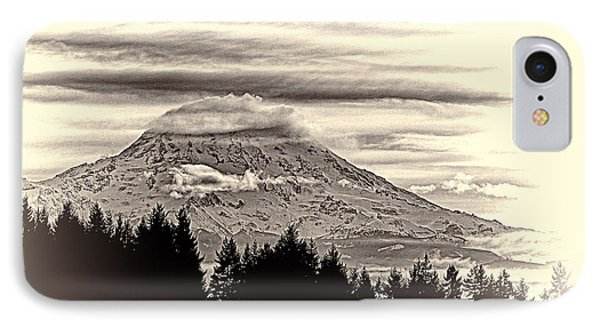 Mt. Rainier Wa In Black And White IPhone Case by Ron Roberts