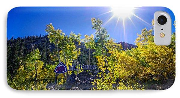 Mt. Rose Fall Color Sunburst IPhone Case by Scott McGuire