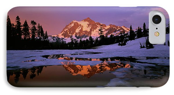 Mt. Shuksan Reflecting Into A Partial IPhone Case