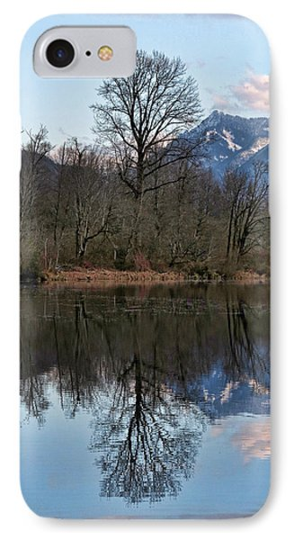Mt Si From Mill Pond 3 IPhone Case