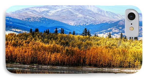 Mt. Silverheels With Aspens IPhone Case by Lanita Williams