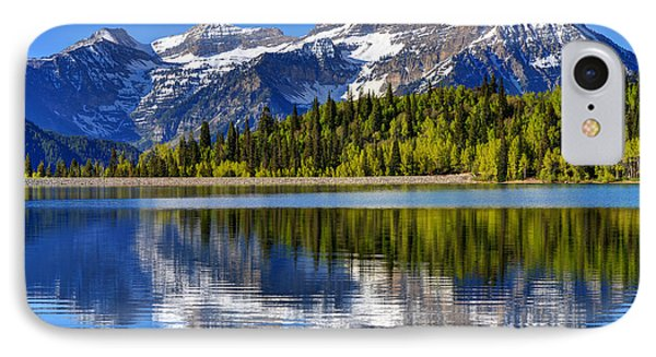 Mt. Timpanogos Reflected In Silver Flat Reservoir - Utah IPhone Case