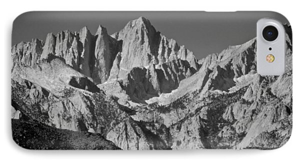 Mt. Whitney In Black And White IPhone Case by Eric Tressler