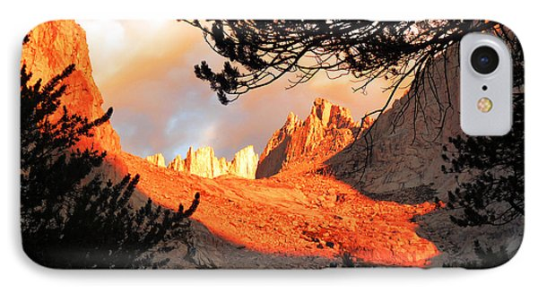 IPhone Case featuring the photograph Mt. Whitney Sunrise by Alan Socolik