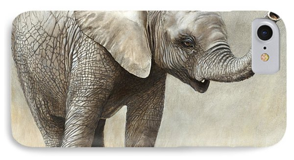 Mtoto Tembo IPhone Case by Rob Dreyer