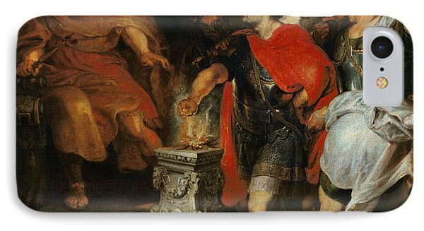 Mucius Scaevola Before Lars Porsena IPhone Case by Rubens