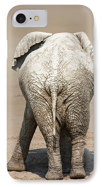 Muddy Elephant With Funny Stance  IPhone Case by Johan Swanepoel