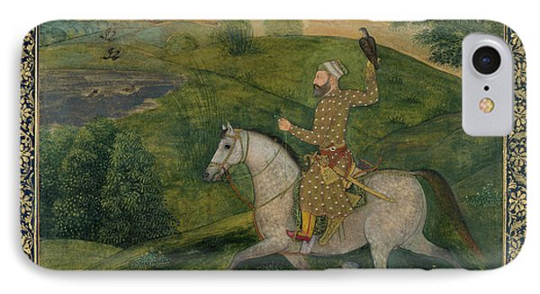 Mughal Nobleman Out Hawking IPhone Case
