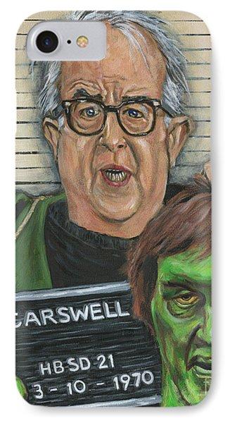 Mugshot Of Mr. Carswell Aka The Creeper IPhone Case by Mark Tavares