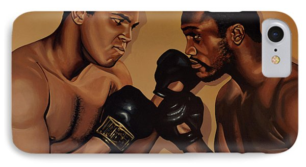 Muhammad Ali And Joe Frazier IPhone Case by Paul Meijering
