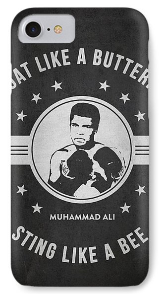 Muhammad Ali - Dark IPhone Case by Aged Pixel