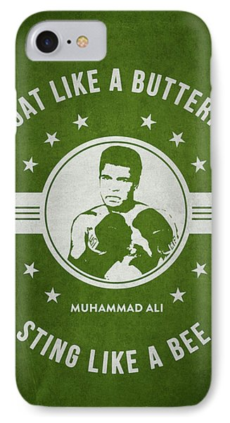 Muhammad Ali - Green IPhone Case by Aged Pixel