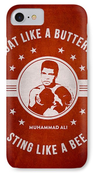 Muhammad Ali - Red IPhone Case by Aged Pixel