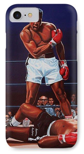 The iPhone 7 Case - Muhammad Ali Versus Sonny Liston by Paul Meijering